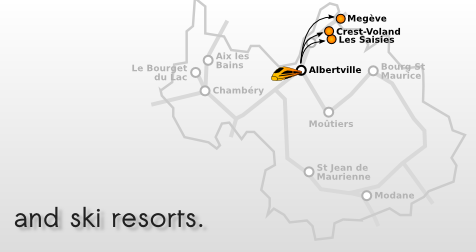 Taxi from airports to ski resorts of savoie