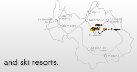 Taxi from Aime to La Plagne